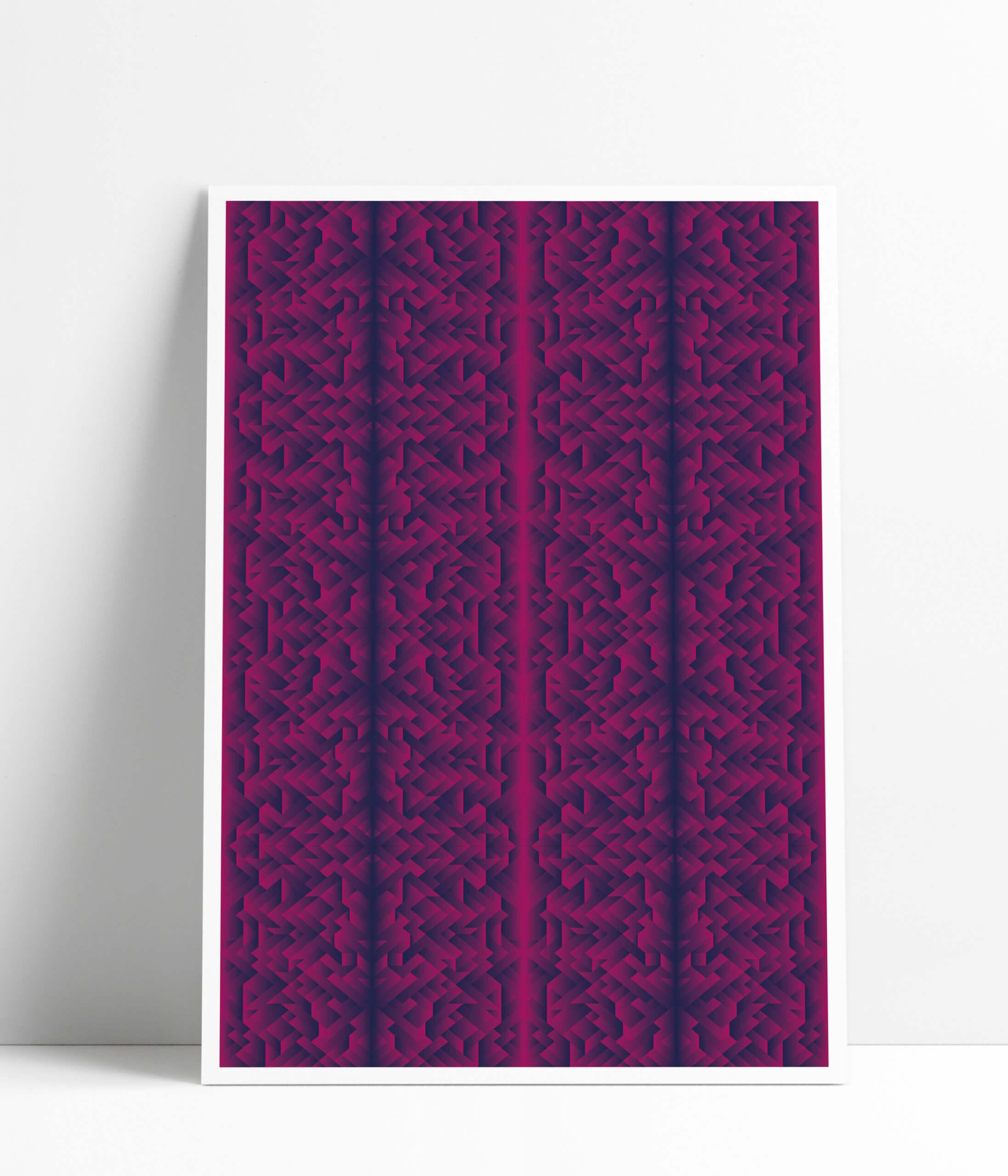 Poster-MockUp-magenta pattern